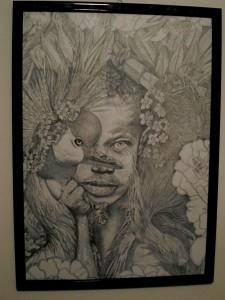 og071-maria cristina lucidi Magie d'Africa matita su cartoncino canson 40x50
