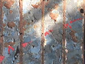 og076-marilena visini Traiettoria tecnica mista su ferro 40x50 anno 2020
