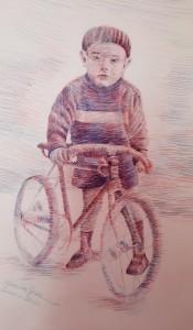 og080 - Monica Giovannini  - A quei tempi  - matite su carta