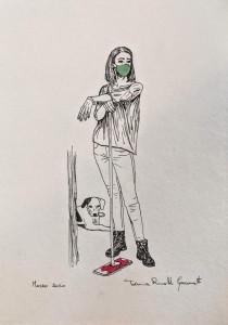 og102-tiziana rinaldi giacometti Covid2020 penna e acquerello su carta 21x29