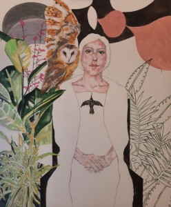 op022-barbara bonfilo Save Humanity Series Omaggio a Frida acrilico su tela di cotone 100 x 120 cm 2018