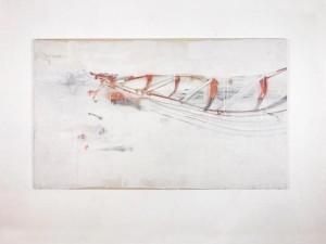 op041-davide Lardossen Ship Spray paint graffite gesso su tela 240x140cm