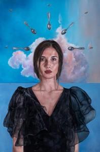 op045-elena franchini Il peso dei sogni Olio su tavola 120 x 80 cm