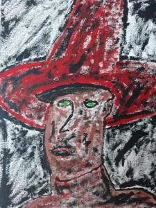 op052-Emanuele Gentile Sombrero rosso ed occhi verdi 24x18 web