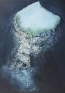 op053-Emma Assisi profondamente 70x100cm acrilico su tela 2020
