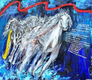 op054-enrica badas The ride of your life acrilico su tela 80x70