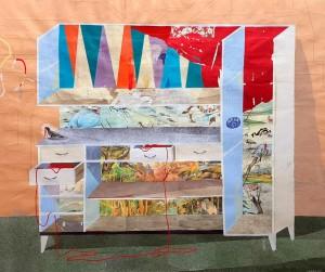 op070-giovanni lanzoni Fine arts kitchen collage su carta 85x100