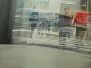 op086-liliana cecchin Dinamiche orizzontali olio su tela 120 x 90