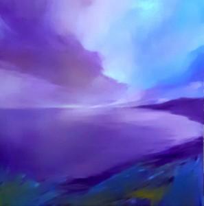 op101-marilena la mantia Oltre lo sguardo olio su tela 100x100