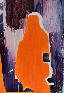 op119-paola passantino Collage II olio su tela 70x100cm