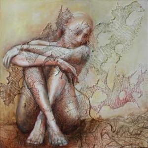 op126-roberta zambon Sintonia pittura tecnica mista su tela 80×80