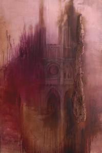 op141-silvia canton Il Culto pigmenti e olio su tela più sughero 1500x100 h. sughero 7,5cm