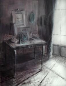op148-tina sgro La stanza dei ricordi acrilico su tela 130x110