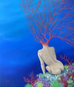 op153-valentina sorrentino Alfonsina y el mar olio su tela 70x60