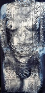op156-walter marin Studio per nudo monocromo su ricamo 48x98