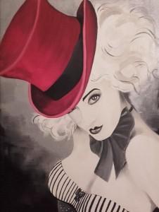or13-Deanna Varini Rosso Follia pittura acrilico su tela 40x30
