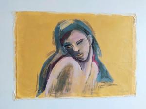 or25-gisella marongiu Donna Pittura tecnica mista 100x60