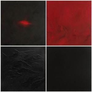 or29-liana degan Creazione Olio su tela con sabbia e materiale acrilico 100x100