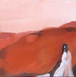 or34-marilena la mantia L'abbraccio di Anubis Pittura olio su tela 50x50
