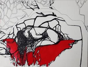or36-marilena la mantia Tornerò alla vita Grafica inchiostro aquarello e tratto pen su carta 23x30.5