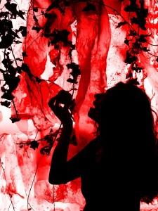 or39-marta valls Eve on fire tecnica fotografia mix media stampa su pannello 50x70