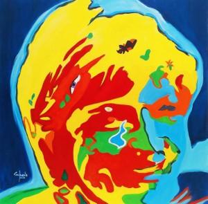 or45-paolo camporota il volto nascosto olio su tela cm 80x80