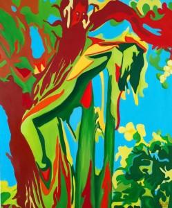 or46-paolo camporota l'albero della tentazione olio su tela cm 120x100