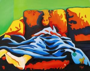 or47-paolo camporota relax olio su yela cm 120x150