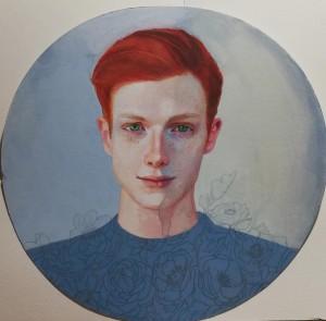 or60-Tamara Zambon CORSI A VEDERE IL COLORE DEL VENTO pittura tecnica mista su carta cotone 40 x 40