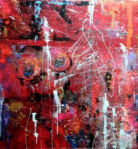 or62-tiziana marra Passion tecnica mista su tela 100x100 2021