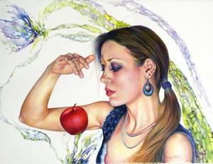 0006 Arcangela Di Fede - Di-rossa-fragilità-Grafica-matite-colorate-su-cartoncino-Canson-100x70