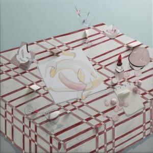 0019 Flavia Carolina DAlessandro - Sophies-surprise-pittura-acrilico-polistirene-estruso-a-rilievo-su-tela-70-70-2019