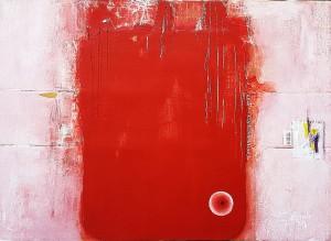 0029 Giovanni Greco - RED-FADE-OUT-3-pittura-stucco-smalto-ritagli-su-cartone-imballo-63x87