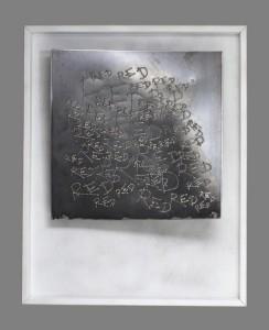 0036 Marco Ceraglia - Monocromo-Monosillabe-2-Incisione-MIG-su-lamiera-al-carbonio-50x50