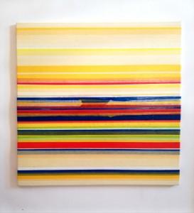 0047 Raffaele Letizia - Alba-sul-mare-Pittura-Tecnica-mista-su-tela-50x50x2