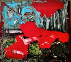 0048 Roberta Ceudek - Summerstorm-Pittura-olio-acrilico-e-smalto-su-tela-80x90