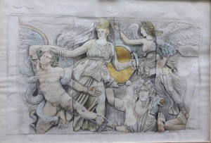 0015 Carmine Lengua-nike-poros-pergamo-disegno-acquerellato-e-oro-70x100cm-0015-0015