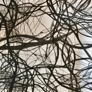 0077 Michela Roffarè-Connessioni-tra-neuroni-il-filo-del-pensiero2-inchiostro-giapponese-su-carta-arches-30X30-0077-0077