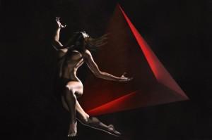 0039 Giampiero Abate - Tetraedro-Acrilico-su-tela-150x100x3-0039