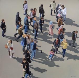 0042 Giulia Otta - Piazza-San-Marco-Venezia-olio-su-tela-70x70-0042