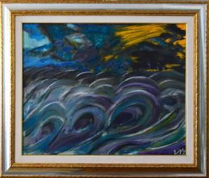 0060 Luciano Trapè - Ira-di-Nettuno-olio-su-tavola-70 x 57-0060