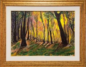 0061 Luciano Trapè - Luce-nel-bosco-olio-su-tela-70x50-0061