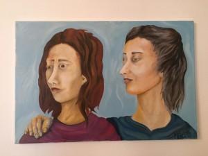 0073 Maria Chiara del Sante - Madre-e-figlia-olio-su-tela-60x40-0073