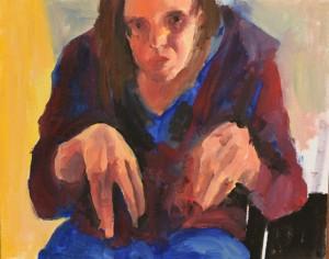 0076 Marianna Iozzino - Self-portrait-olio-su-tela-30x23-0076