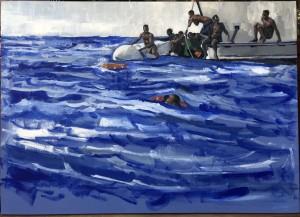 0083 Nicola Pellizzaro Refugees -acrilico-su-tela-50x70-0083