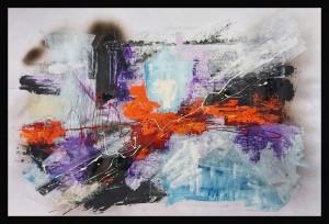 0093 Paolo Laconi - Gelo-artico-olio-acrilico-su-cartoncino-100x70-0093