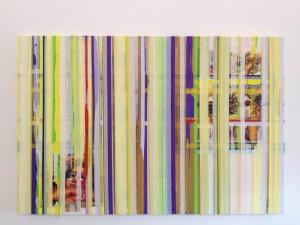 0097 - Raffaele Letizia -The-Grate-tecnica-mista-su-tela-acrilico-pennarelli-e-nastro-carta-120x80x4-0097
