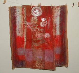 0099 Rosa Madonna - Jana-rossa-olio-su-juta-cucita-50x50-0099