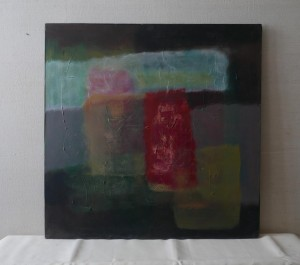 0100 Rosa Madonna - Omaggio-a-Goya-olio-su-tela-90x90-0100