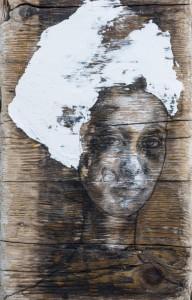0109  Stefania Raimondi - senza-titolo-carboncino-e-gesso-su-tavola-25x50-0109